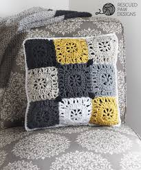 Pillow Designs by Pillow Crochet Pattern Rescued Paw Designs Crochet By Krista Cagle