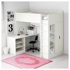 2 floor bed stuva loft bed with 2 shelves 2 doors white orange ikea