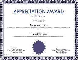 memorial day education certificate appreciation award