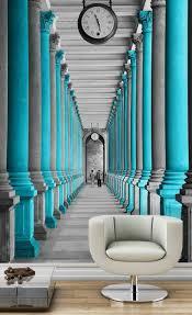 Fototapete Schlafzimmer Blau Wand Mit Fototapete Gestalten Für Eine Optische Vergrößerung Des Raums