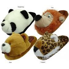 plush animal slippers ebay womens plush bedroom animal slippers s m l xl