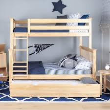 Bunk Beds With Trundle Max U0026 Lily Solid Wood Bunk Bed With Trundle Bed U0026 Reviews Wayfair