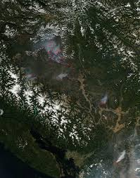 Wildfire Equipment Operators by Wildfires Still Plaguing British Columbia Canada Nasa