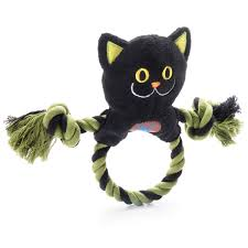 halloween ring toss dog toy black cat with same day shipping
