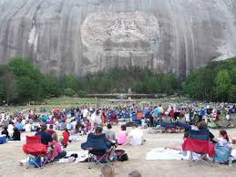 stone mountain laser light show waiting for the laser light show to start picture of stone