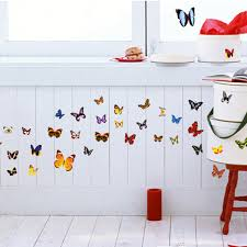 PCS DIY Colourful Butterflies Home Removable Decor Wall Stickers - Stickers for kids room