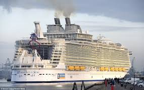 Largest Cruise Ship Harmony Of The Seas Makes Titanic Look A Minnow As It Docks In