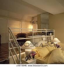 split level bedroom stock images of split level bedroom with ensuite bathroom
