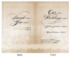 personalized wedding programs vintage lace personalized wedding program holder wedding