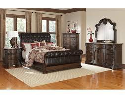 monticello bedroom set the monticello sleigh bedroom collection pecan value city