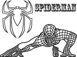 crouching spiderman coloring 2 sorted spiderman