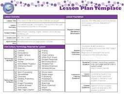 lesson plan template writings on the whiteboard all