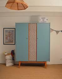 armoire vintage chambre armoire vintage augustin meuble vintage relooké par lilibroc