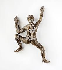 sculptures home decor modern metal art climbing man sculpture wire mesh sculpture