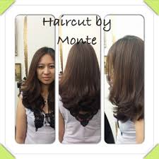 long layer haircut and blowout by monte jay yelp