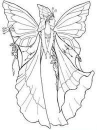 fairy outline coloring free download
