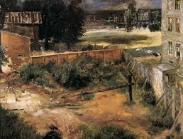 Backyard Oil File Adolph Von Menzel Rear Of House And Backyard Wga15047 Jpg