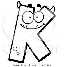 letter k clipart black and white clipartxtras