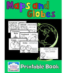 globe and maps worksheet maps and globes a printable book for introducing or reviewing