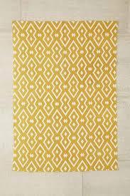 thinking salta mustard geo printed rug
