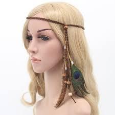 hot sale fashion festival feather headband hippie headdress hair