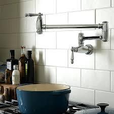 pot filler kitchen faucet delta pot filler delta traditional brilliance stainless steel two