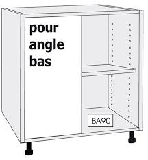 caisson angle cuisine caisson bas pour angle droit meubles à composer meubles à