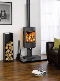 cast iron wood burning stove definitely different from the boxy