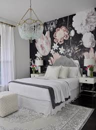 Home Wallpaper Decor by One Room Challenge The Reveal Floral Wallpapers Bedrooms And