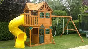small backyard playsets awesome backyard discovery prestige wood