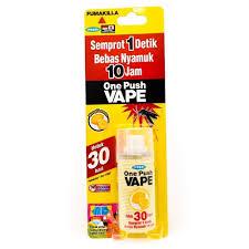 Obat Nyamuk Vape jual one push vape obat spray semprot anti nyamuk 30 hari lemon