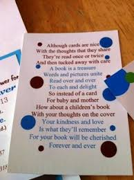 Books Instead Of Cards For Baby Shower Poem Girly Pink Baby Shower Book Insert Request Card Business Cards