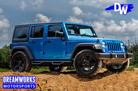black jeep wrangler unlimited custom jeep u2014 dreamworks motorsports