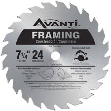 Circular Saw Blade For Laminate Flooring Avanti 7 1 4 In X 24 Tooth Framing Saw Blade A0724a The Home Depot