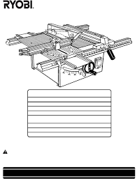 Ryobi Table Saw Manual Download Ryobi Bt3000 Owner U0027s Manual For Free Manualagent