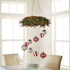 hang ornaments from a wreath to create this decor