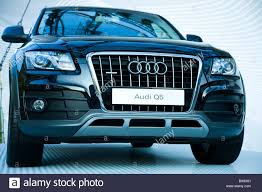 Audi Q5 Suv - presentation of the brand new car model audi quattro q5 suv stock
