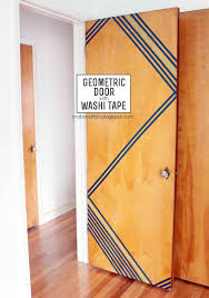 Washi Tape Wall Designs by Dorm Room Decor 101 Make Your Front Door Fab Bedroom Doors