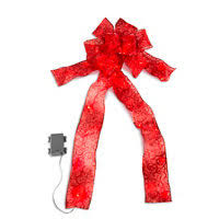 battery operated lighted christmas bows lighted ribbon and bow christmas decoration improvements
