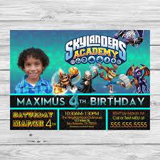 skylanders birthday invitation with envelope template photoshop