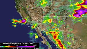 Rainfall Totals Map Nasa Measures Southwestern U S Record Rainfall Nasa