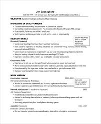Electrician Resume Sample by Electrician Resume Template Industrial Electrician Resume Sample