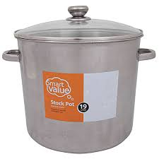 smart value 19 litre stock pot big w