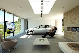 Beleuchtung In Wohnzimmer Haus Mit Garage Die Moderne Garage Freshouse