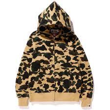 1st camo windstopper full zip hoodie us bape com