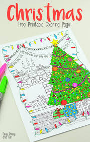 free printable christmas coloring easy peasy fun