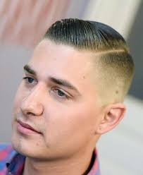 skin fade comb over hairstyle combover fade haircut with line for men