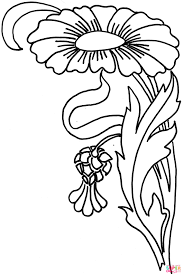 zinnia flower coloring page free printable coloring pages