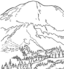 mount rainier coloring page u0026 coloring book