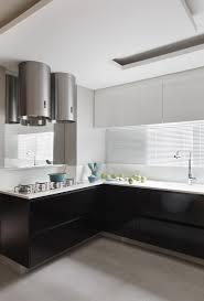 Black Gloss Kitchen Cabinets by Kitchen Style Charming Black And White Kitchen Black Gloss